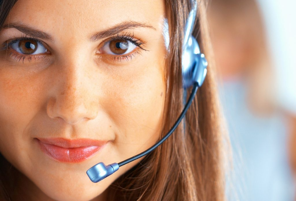 Agents Republic call center agent with a headset